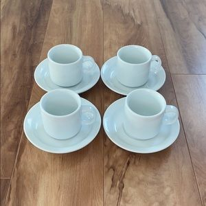 Pier 1 set of four espresso coffee cups